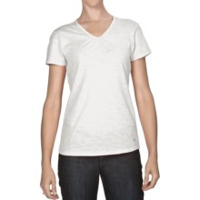 White Sierra Lisbon T-Shirt - Slub Cotton, Short Sleeve (For Women) in White - Closeouts