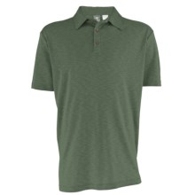 White Sierra Main Street Polo Shirt - Short Sleeve (For Men) in Thyme - Closeouts