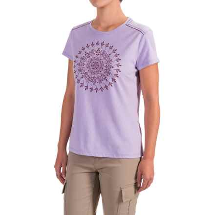 White Sierra Mandala T-Shirt - Short Sleeve (For Women) in Lavender - Closeouts