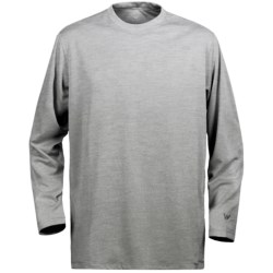 White Sierra Marsh T-Shirt - Insect Shield®, UPF 30, Long Sleeve (For Youth) in Heather Grey