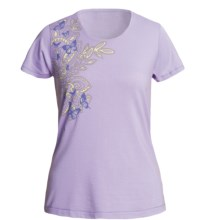 White Sierra Meadow Springs T-Shirt - Short Sleeve (For Women) in Soft Lavender - Closeouts