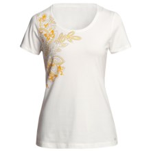 White Sierra Meadow Springs T-Shirt - Short Sleeve (For Women) in White - Closeouts