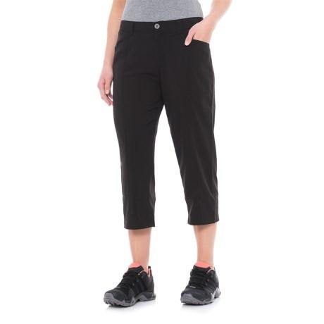 White Sierra Mendocino Stretch Capris (For Women) in Black