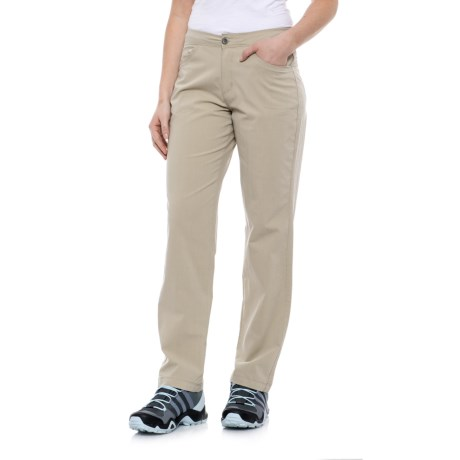 White Sierra Mount Shasta Stretch Pants (For Women) in Stone
