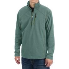 White Sierra Mountain Comfort Shirt - Zip Neck, Long Sleeve (For Men) in Balsam Green - Closeouts