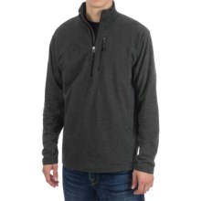 White Sierra Mountain Comfort Shirt - Zip Neck, Long Sleeve (For Men) in Black - Closeouts