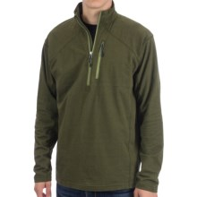 White Sierra Mountain Comfort Shirt - Zip Neck, Long Sleeve (For Men) in Cypress - Closeouts