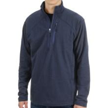 White Sierra Mountain Comfort Shirt - Zip Neck, Long Sleeve (For Men) in Titanium - Closeouts