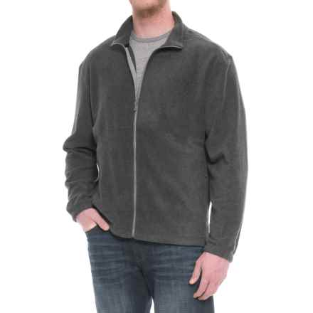White Sierra Mountain II Fleece Jacket (For Big Men) in Charcoal Heather - Closeouts