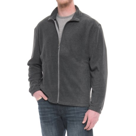 White Sierra Mountain II Fleece Jacket (For Big Men) in Charcoal Heather