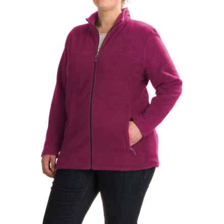White Sierra Mountain Jacket (For Plus Size Women) in Crushed Grape - Closeouts