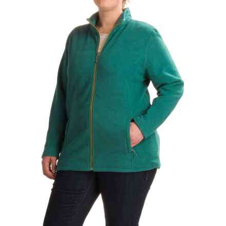 White Sierra Mountain Jacket (For Plus Size Women) in Pacific - Closeouts