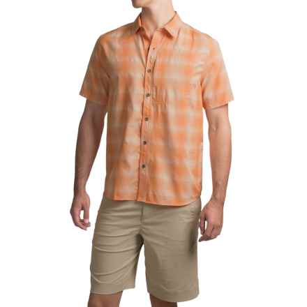 White Sierra Ningaloo Plaid Shirt - UPF 30+, Short Sleeve (For Men) in Apricot - Closeouts