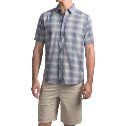 White Sierra Ningaloo Plaid Shirt - UPF 30+, Short Sleeve (For Men) in Blue Indigo - Closeouts
