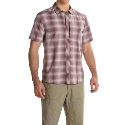 White Sierra Ningaloo Plaid Shirt - UPF 30+, Short Sleeve (For Men) in Dark Grape - Closeouts