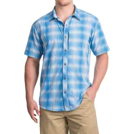 White Sierra Ningaloo Plaid Shirt - UPF 30+, Short Sleeve (For Men) in Imperial Blue - Closeouts