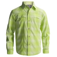 White Sierra Ningaloo Shirt - UPF 30, Long Sleeve (For Little and Big Boys) in Margarita - Closeouts