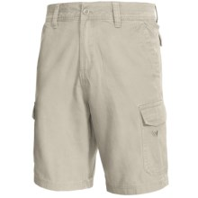 White Sierra Northridge Cargo Shorts - Cotton Canvas (For Men) in Stone - Closeouts