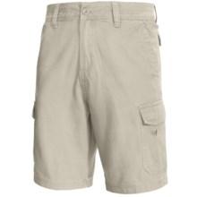 White Sierra Northridge Cargo Shorts - Cotton Canvas (For Men) in Stone - Closeouts