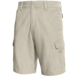 White Sierra Northridge Cargo Shorts - Cotton Canvas (For Men) in Stone