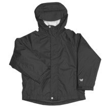 White Sierra Nose Slide Jacket (For Boys) in Black - Closeouts