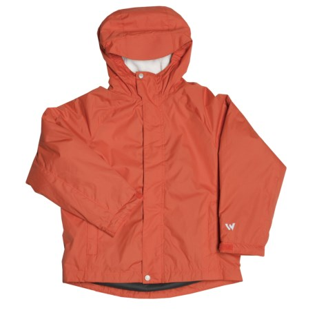 White Sierra Nose Slide Jacket (For Boys) in Burnt Orange
