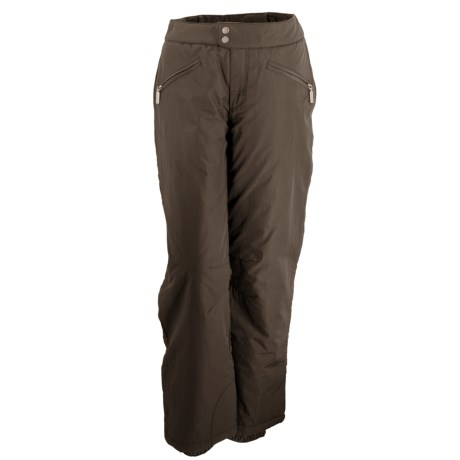 White Sierra Nylon Slider Pants - Waterproof, Insulated (For Women) in Cig Cigar