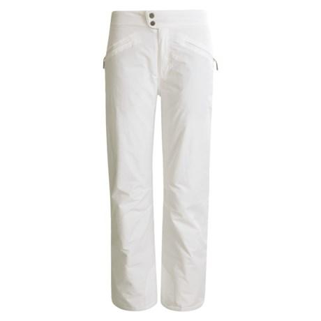 White Sierra Nylon Slider Pants - Waterproof, Insulated (For Women) in Black