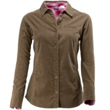 White Sierra Oakwood Corduroy Shirt - Long Sleeve (For Women) in Bark - Closeouts