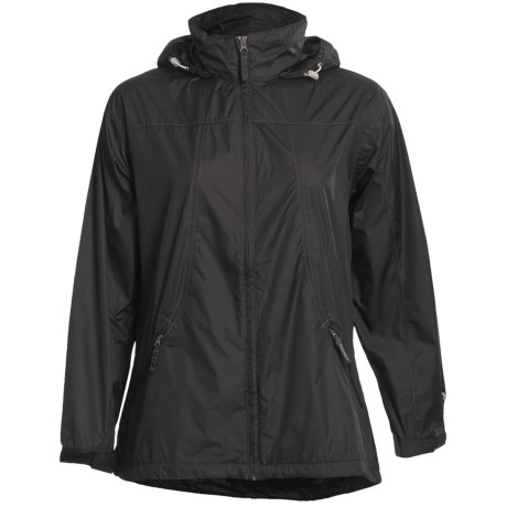 White Sierra Paradise Cove Wind Jacket - Windproof (For Women) in Black