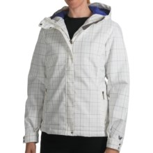 White Sierra Patchwork Jacket - Insulated, Hooded (For Women) in White - Closeouts