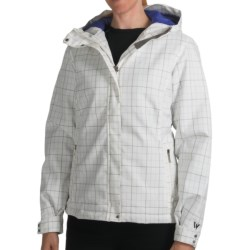 White Sierra Patchwork Jacket - Insulated, Hooded (For Women) in White