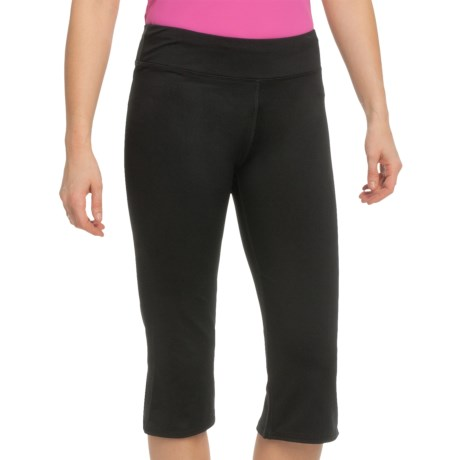 White Sierra Paulucci Yoga Capris (For Women) in Black