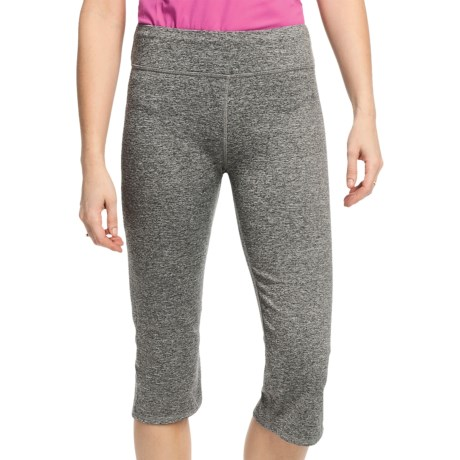 White Sierra Paulucci Yoga Capris (For Women) in Heather Grey