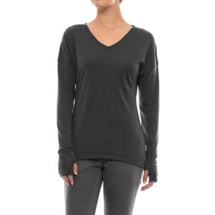 White Sierra Pebble Peak Shirt - Long Sleeve (For Women) in Black - Closeouts