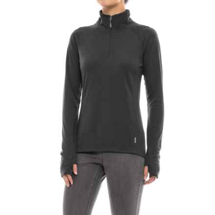 White Sierra Pebble Peak Shirt - UPF 30, Zip Neck, Long Sleeve (For Women) in Black - Closeouts