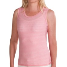 White Sierra Pin Stripe Tank Top (For Women) in Coral - Closeouts