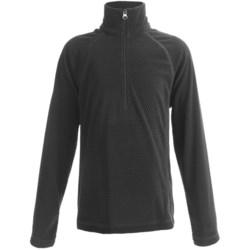 White Sierra Pinnacle Fleece Jacket - Zip Neck (For Boys and Girls) in Ocean