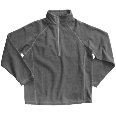 White Sierra Pinnacle Fleece Jacket - Zip Neck (For Boys and Girls) in Charcoal Heather