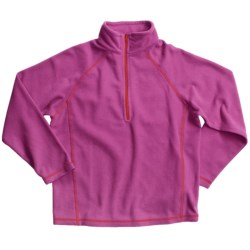 White Sierra Pinnacle Fleece Jacket - Zip Neck (For Boys and Girls) in Blueberry