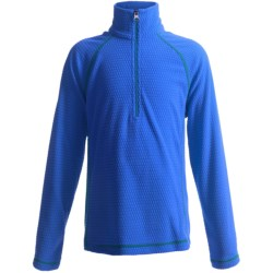 White Sierra Pinnacle Fleece Jacket - Zip Neck (For Boys and Girls) in Blueberry