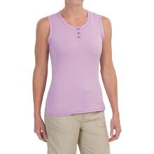 White Sierra Pinstripe Tank Top (For Women) in Sheer Lilac - Closeouts