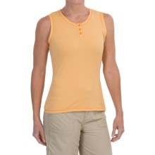 White Sierra Pinstripe Tank Top (For Women) in Warm  Apricot - Closeouts