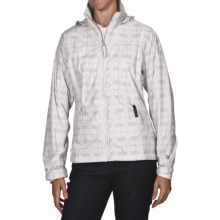 White Sierra Plaid Paradise Cove Wind Jacket (For Women) in White - Closeouts