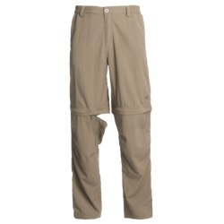 White Sierra Point Convertible Pants - UPF 30 (For Men) in Bark