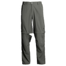White Sierra Point Convertible Pants - UPF 30 (For Men) in Caviar - Closeouts
