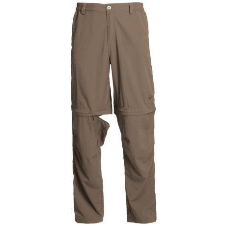 White Sierra Point Convertible Pants - UPF 30 (For Men) in Dark Bark