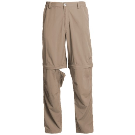 White Sierra Point Convertible Pants - UPF 30 (For Men) in Khaki