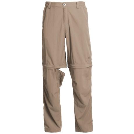 White Sierra Point Convertible Pants - UPF 30 (For Men) in Khaki