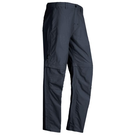 White Sierra Point Convertible Pants - UPF 30 (For Men) in Titanium